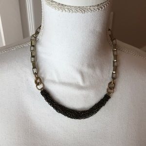 Jewelry - Black and gold rope chain statement necklaces